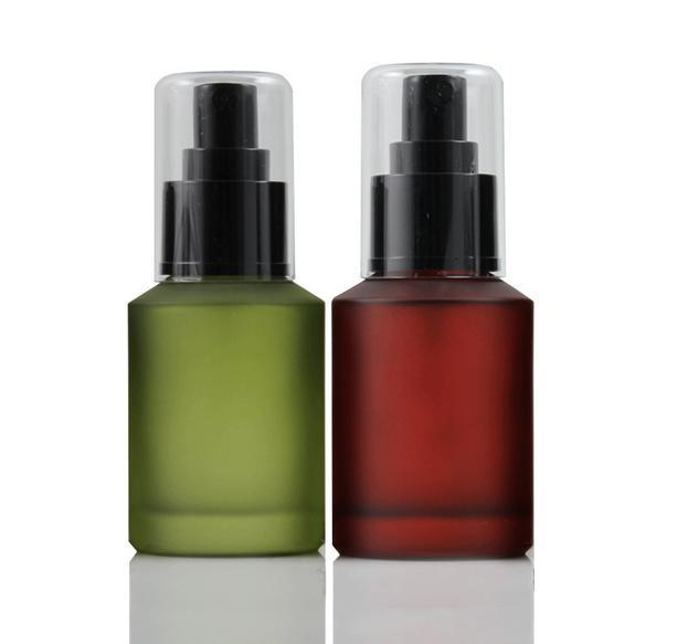 freeshipping 60ml 2pcs/lot lucifugal glass spray bottle,fine mist cosmetic/perfume  packaging bottle ( red green ) black nozzle<br><br>Aliexpress