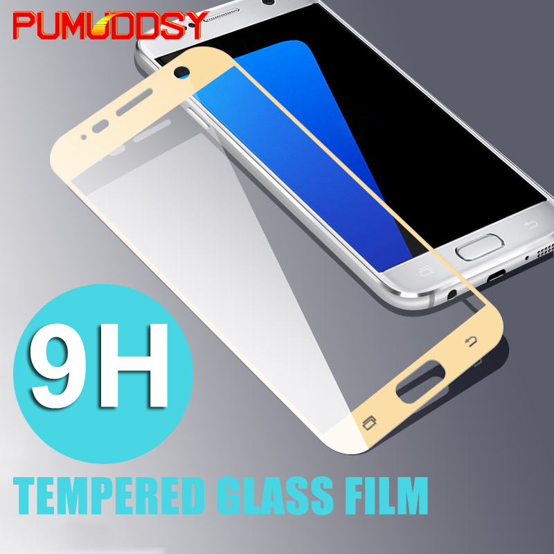 9H 0.3mm Tempered Glass Samsung Galaxy S7 A3 A5 A7 2016 2017 Full cover Screen Protector Film Samsung J3 J5 J7 glass