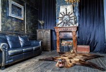 laeacco huis gordijn sofa haard dier bont piraat fotografie achtergrond aangepaste fotografische achtergronden voor foto studio