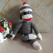 40cm Ty Monkey Sock Grey Plush Toy With Big Mouth Stuffed Animal Doll Kid Toy Birthday Gift Christmas Classic(China)