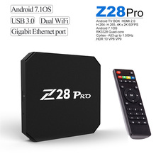 Z28 Pro RK3328 Cortex - A53 Smart TV Box Android 7.1 Support H.265 4K x 2K 1 + 8GB