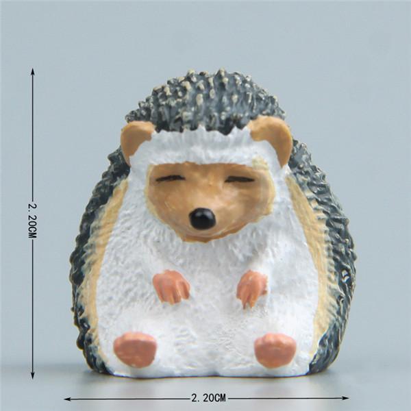 Cute Lazy Sitting Pets Animals Bear Cat Dog Hedgehog Lifelike pvc toys fridge magnets - 9
