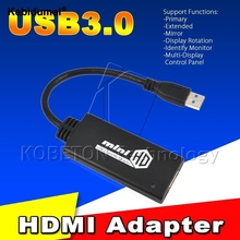 Kebidumei 1pc HD 1080P USB 3.0 To HDMI Video Cable Adapter Converter For PC Laptop(China)