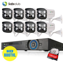 8ch CCTV System 800tvl waterproof Day/Night Security Camera System 8 Channel AHD-L 960H DVR video surveillance kit Array Camera