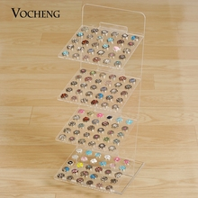 Vocheng Four Layers Detachable Clear Acrylic Rectangle Display Stand Jewelry for Ginger Snaps NN-477 Free Shipping(China)