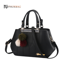 HJPHOEBAG Fashion PU Leather women Top-handle Bag Venonat ladies Bags high quality Ball Shoulder Bag girl shopping bag W-A47