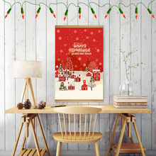 Merry Christmas Happy New Year Ornaments Gifts Wall Art Hanging Printed Framed Canvas Painting Decorations for Home Decor(China)