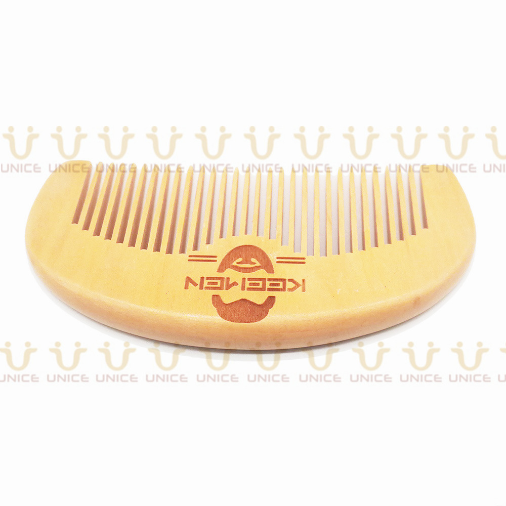 100pcs/lot Your LOGO Customized Private Label Combs Hair Beard Wood Comb for Men & Women for Barber Shop Retail Case 10