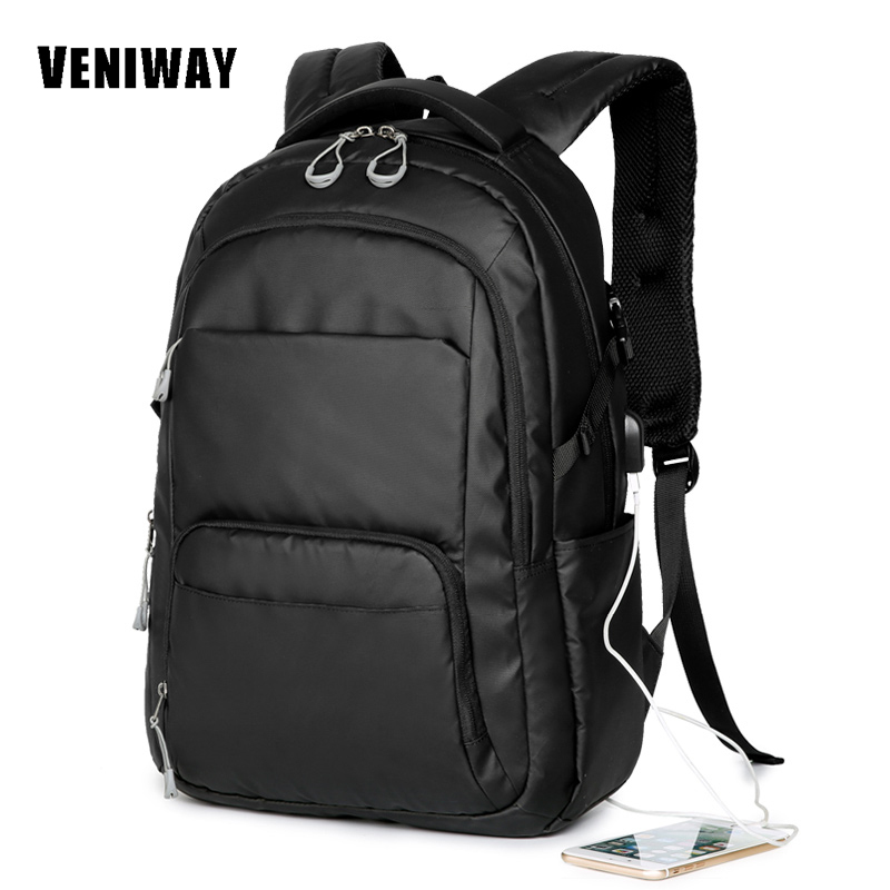 VENIWAY Mens Backpacks Bolsa Mochila Laptop 14 Inch 15 Inch 16 Inch Notebook Computer Travel Bags Oxford Student School Bag<br>