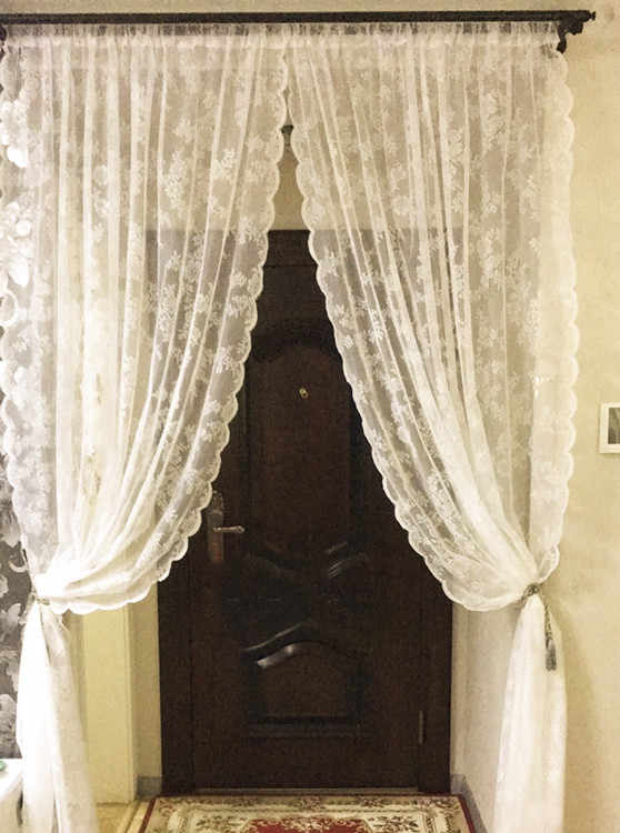 White Tulle Curtains Embroidered Curtain for Living Room Transparent Tulle Curtains Window Drapes Sheer for Bedroom 300cm Height