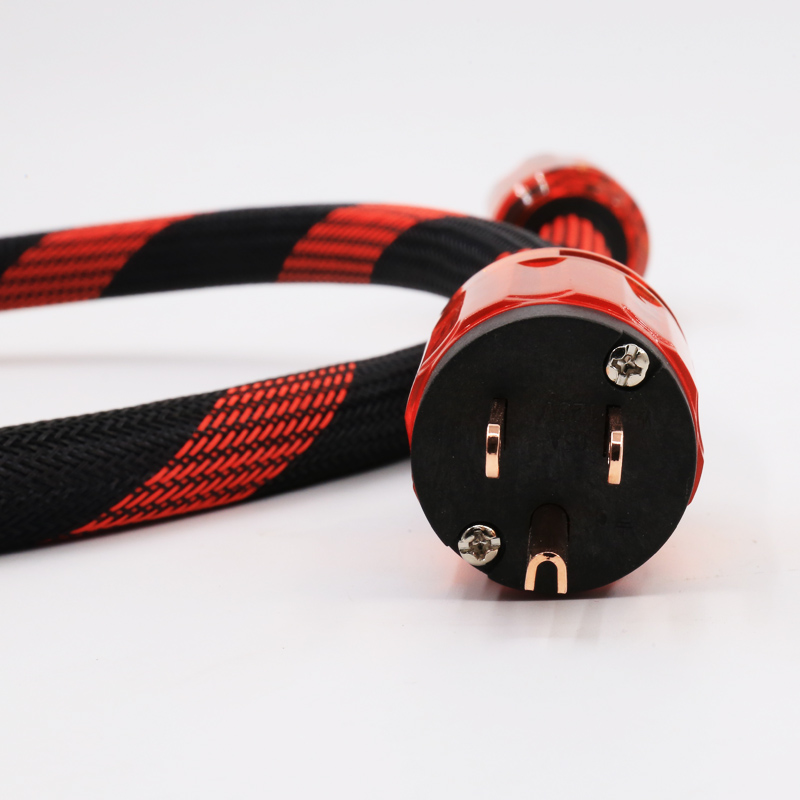 1.5M Red Copper US plated Power cable with P-046  Connector Plug<br>