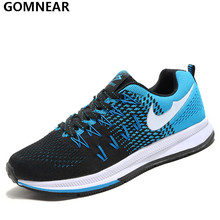 GOMNEAR Men's Sport Running Shoes Outdoor flexible Breathable Jogging Athletic Shoes Man Antiskid Lifestyle Cushioning Sneakers(China)