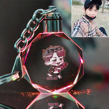 PCMOS Korea Kpops LED Luminous Toys keychain Wanne One funs Light Stick Crystal Metal Key Chain(China)