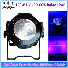 4pcs/lot High Power Aluminum Black Case Good Quality COB PAR64 Light DMX 100W UV LED Indoor COB Par Light(China)