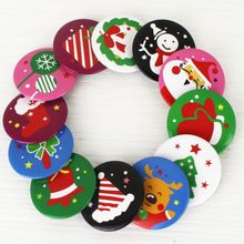 8pcs 4cm christmas Badge Tinplate Prizes Lovely Snowman noel christmas decorations for home natal navidad kerst tree decorations(China)