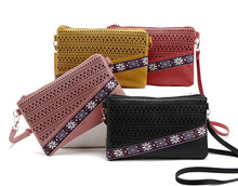 western fashion ladies floral embroidered handbag hot explosion trend small shoulder bag spring Ethnic clutch cross body bag