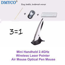 Super Convenient Mini Handheld 2.4GHz Wireless Laser Pointer Air Mouse Optical Pen Mouse USB For Smart PC Android TV Box