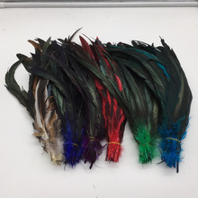 Free shipping / 100 root sell dye rooster tail feather 30 - 35cm / 12 -14Inch DIY wedding celebration articles for use