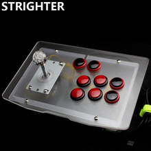 Transparent Arcade Joystick Luminous Light Grey Acrylic panels Controller Red Black Buttons Consoles  for Computer PC Game