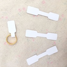 1.2x6cm White Paper Jewelry Display Card Labels Ring Sticker Hangtag 1000pcs/lot Blank Paper Price Tag Labels Packaging  H009