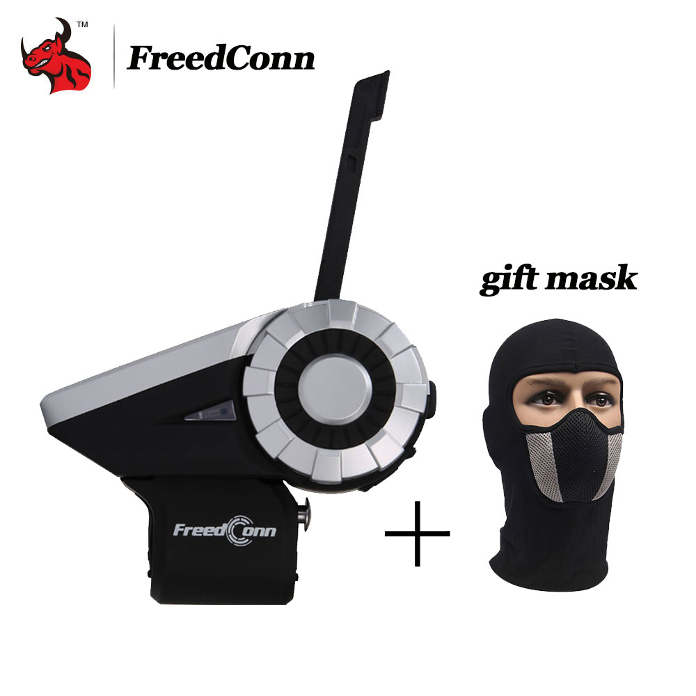 Freedconn 1500M 8-Way Full Duplex Motorcycle Group Talk System BT Interphone FM Radio T-Rex Bluetooth Helmet Intercom Headsets(China)