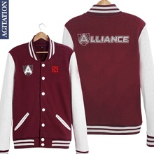 3 Colors Women/Men Dota Dota2 A Alliance LODA Gaming Tees Team Printed Baseball Jacket Custom Fashion Jersey Varsity Veste