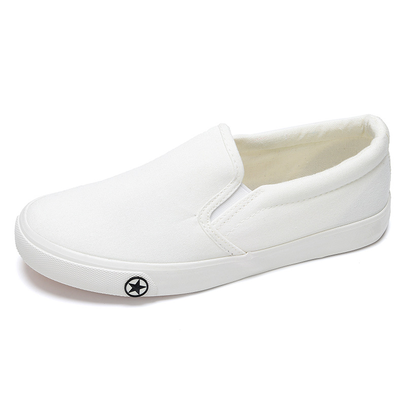 2016 summer small white shoes flat a pedal lazy student han edition tide low help shoes casual shoes female canvas shoes<br><br>Aliexpress