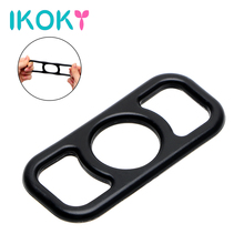 Buy IKOKY Silicone Elastic Penis Ring Scrotal Binding Cock Ring Delay Ejaculation Sex Toys Men Time Delay Male Masturbator