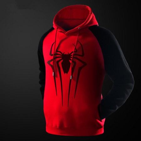 Spider-Man Classic Sweatshirt Male sport hoodie Black
