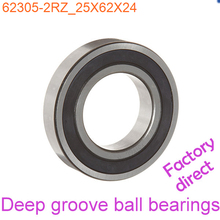 25mm Diameter Deep groove ball bearings 62305-2RZ 25mmX62mmX24mm Double rubber sealing cover ABEC-1 CNC,Motors,Machinery,AUTO