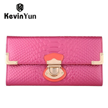 KEVIN YUN Fashion designer brand women wallets patent leather purse long clutch wallet