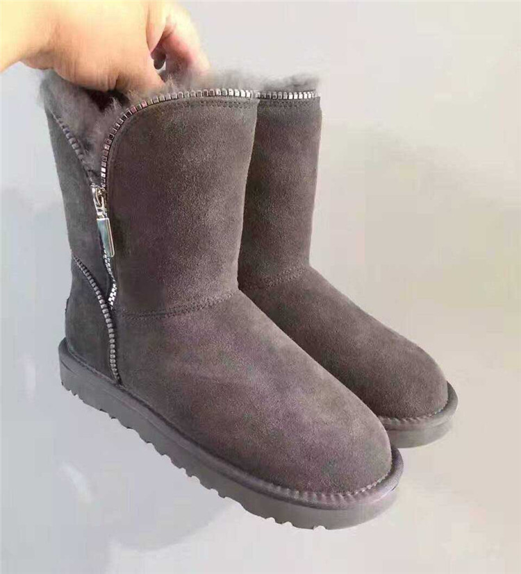 Hot Sale Women Snow Boots Genuine Cowhide Leather 100% Natural Fur Winter Boots Warm Wool Women Boots Luxury shoes Free shipping<br><br>Aliexpress