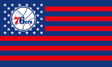 blue and red stripe Philadelphia 76ers Flag(China)