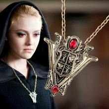 2015 New Arrival Movie Twilight New Moon Crest Volturi Pendant Necklace wholesale(China)