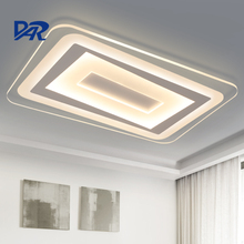 Rectangle remote control livingroom lights modern ceiling lights luminaria led ceiling lamp indoor lighting luminaire plafonnier(China)