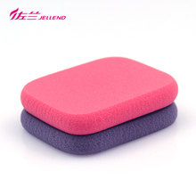 JELLEND 2pcs High Quality Cosmetic Powder Puff Facial Foundation Makeup Sponge Blender Red & violet Hydrophilic Blending Sponge
