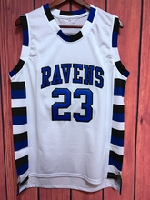EJ One Tree Hill Nathan Scott #23 Ravens Basketball Jersey WHITE(China)