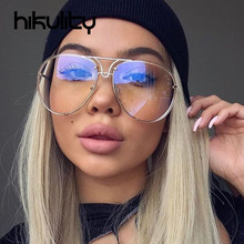Rimless Gold Pink Sunglasses Men Women 2017 Brand Designer Aviator Clear Sunglasses Big Frame Sexy Sun Glasses Lunette Femme
