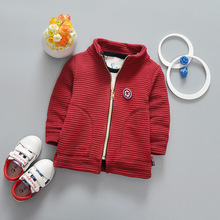 2017 New Spring Autumn Baby Boy Girl Coat Children Baseball Uniform Long Sleeve Shirt Zipper Cardigan Cotton Star Kids Outwear