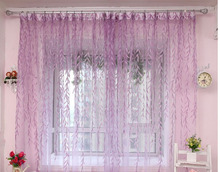 New Qualified Modern Willow Tulle Door Window Curtain Drape Panel Sheer Scarf Valances for home 3.13!(China)