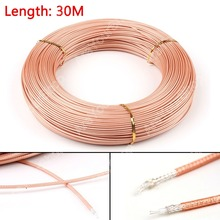 Areyourshop Sale 3000CM RG316 RF Coax Coaxial cable Connector 50ohm M17/113 Shielded Pigtail 98ft W(China)