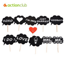 Actionclub Love DIY Mr Mrs Photo Booth Props Photobooth Photocall On A Stick Photography Wedding Decoration Party For Fun Favor