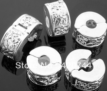 "20pcs/Lot Silver Plated Lock Clips Beads Fit Charm 0.39x0.24"" CHIC(China)"
