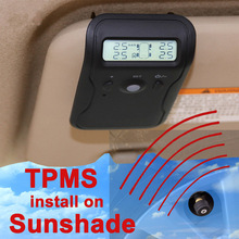 Sunvisor Sunshade Wireless TPMS with external Sensor Support High Low Pressure Temperature Fast Leakage Alarm Max 5 tires(opt)(China)