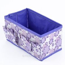 Folding Cosmetic Storage Case Multifunction Flowers Woven Cosmetic Storage Box Girls Makeup Organize Bag