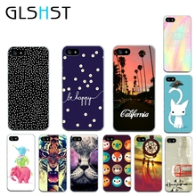 GLSHST Soft sillicon Super slim Cute Long tail cat back case Soft TPU clear phone case cover For Apple iPhone 5 5s SE