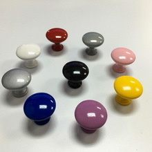 30mm Round Drawer Knobs Colorful Furniture Dresser Knobs Kitchen Cabinet Knobs Furniture Hardware Handle for Home Decorative