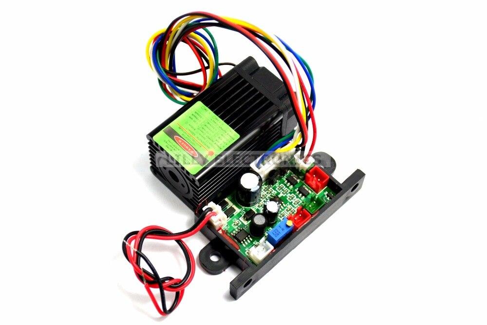 12V 532nm100mW pumped Green Laser Dot Module Fan Cooling TTL 0-30KHZ<br>
