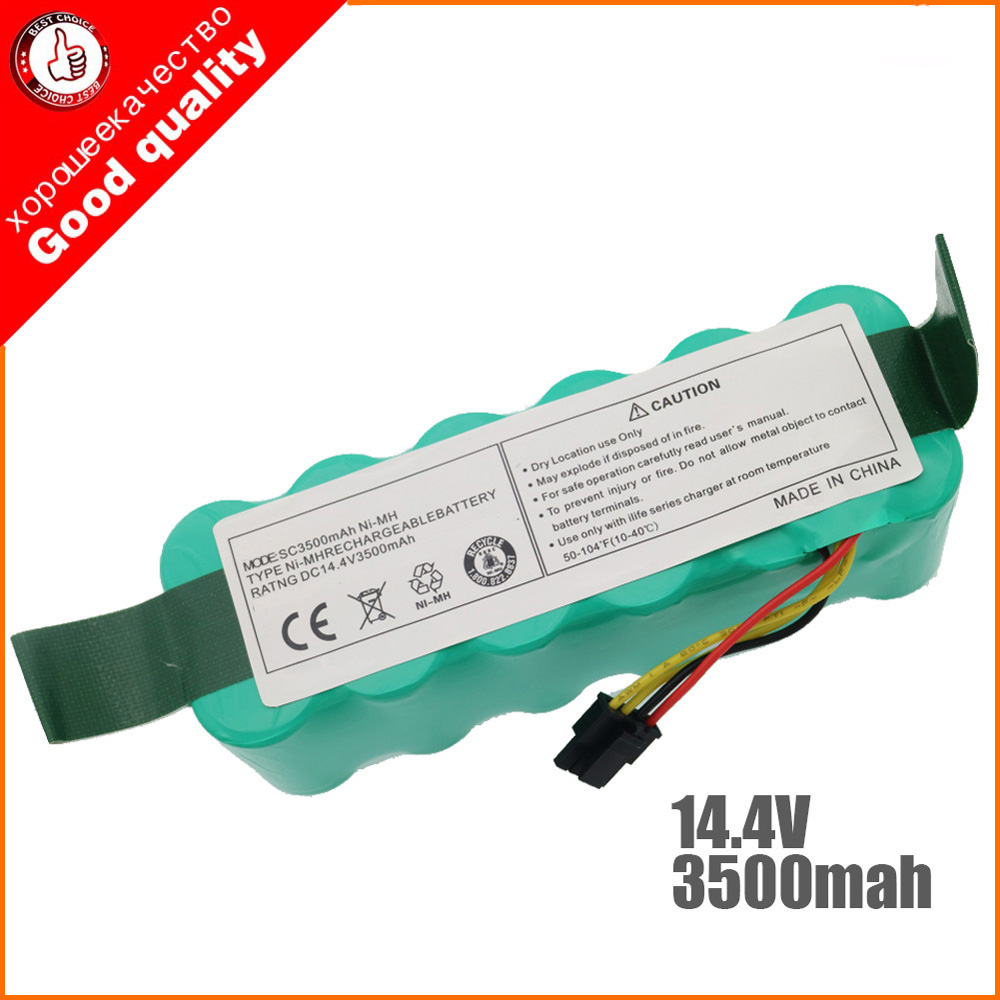NI-MH 14.4V 3500mAh for panda X500 X600 x850 High quality Battery for Ecovacs Mirror CR120 Vacuum cleaner Dibea X500 X580(China)