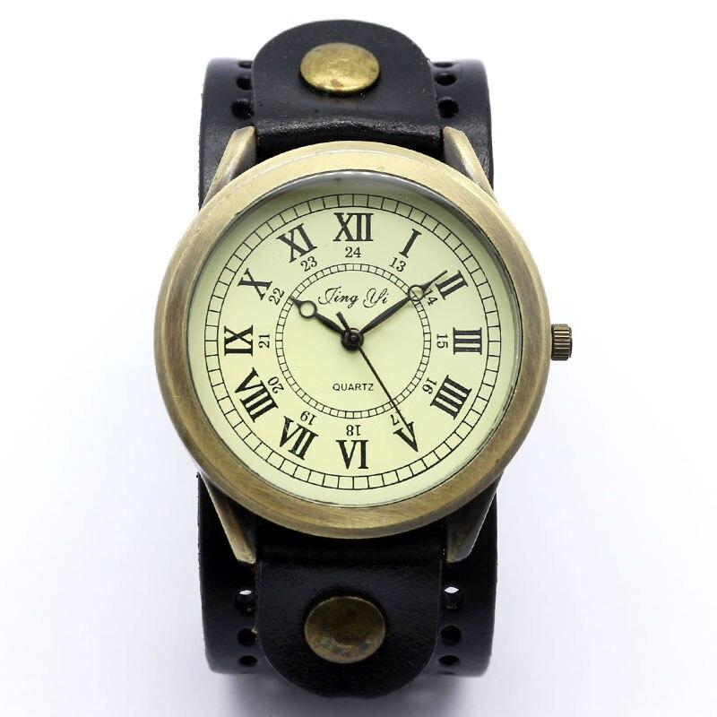 Black Roma Number Dial Vintage Leather Bracelet Quartz Wrist Watch Men Boy Gift relogio masculino Free Shipping<br><br>Aliexpress
